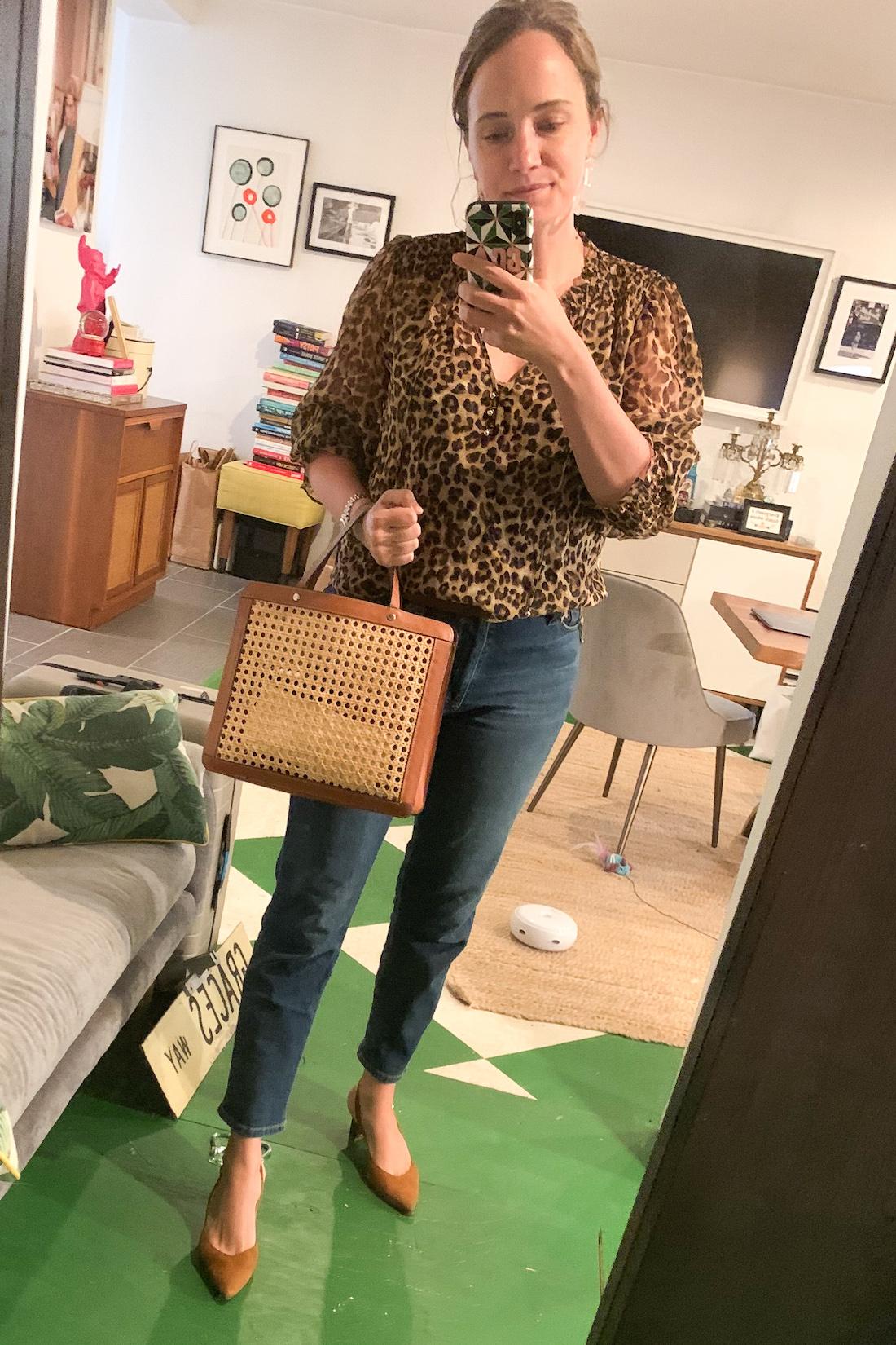 grace wearing a cheetah blouse