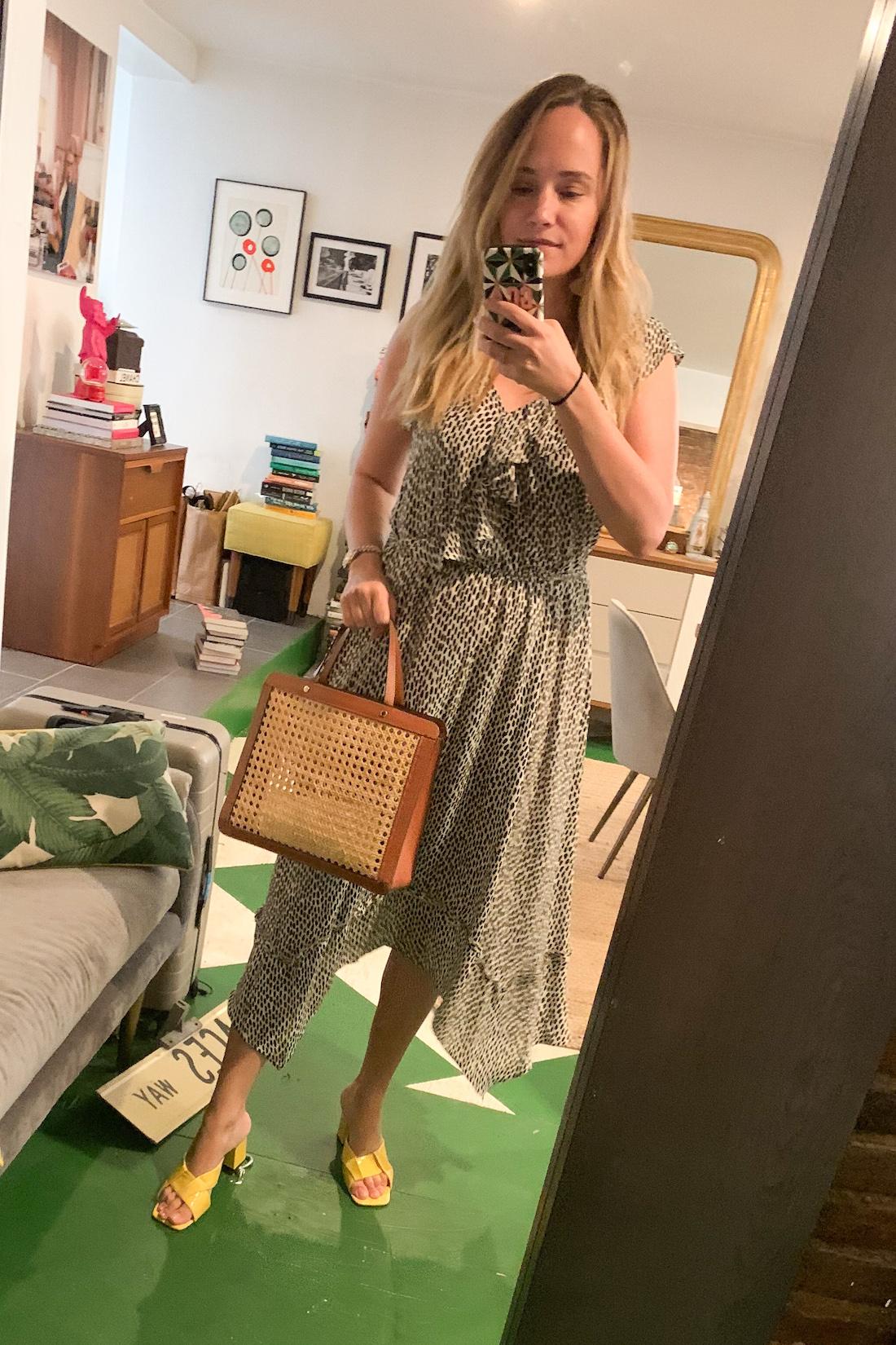 a patterned sun dress