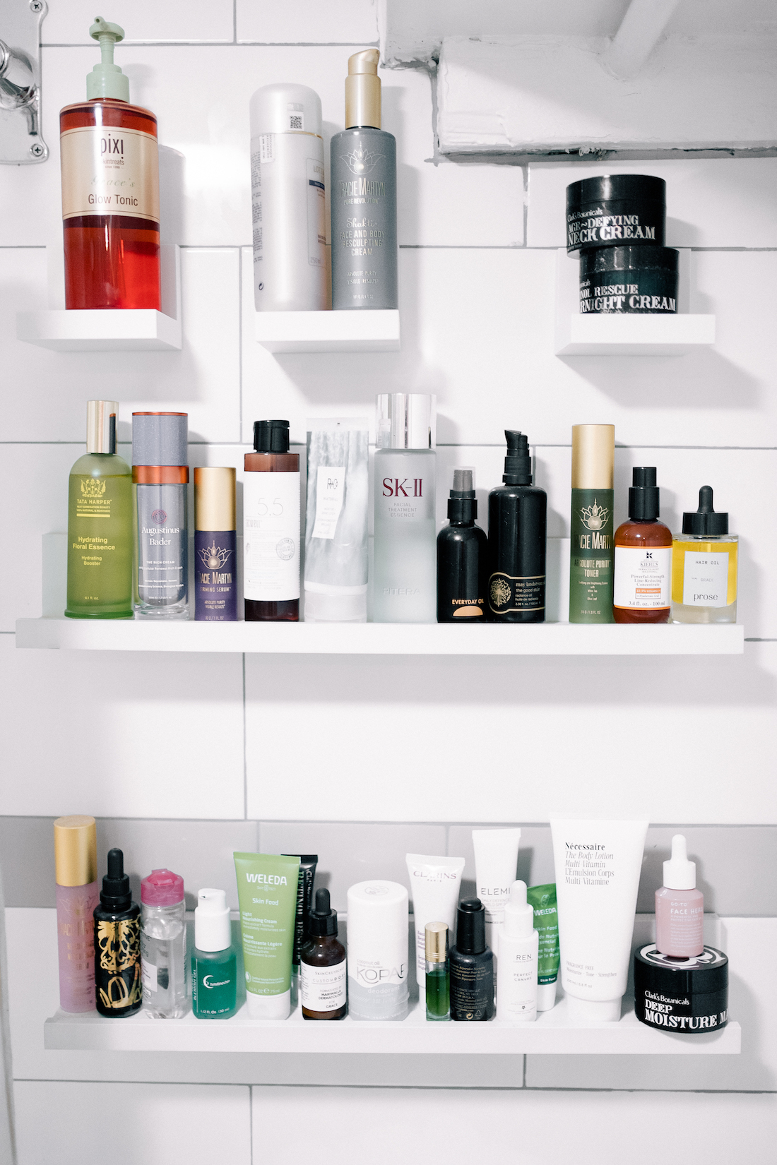 skincare routine products