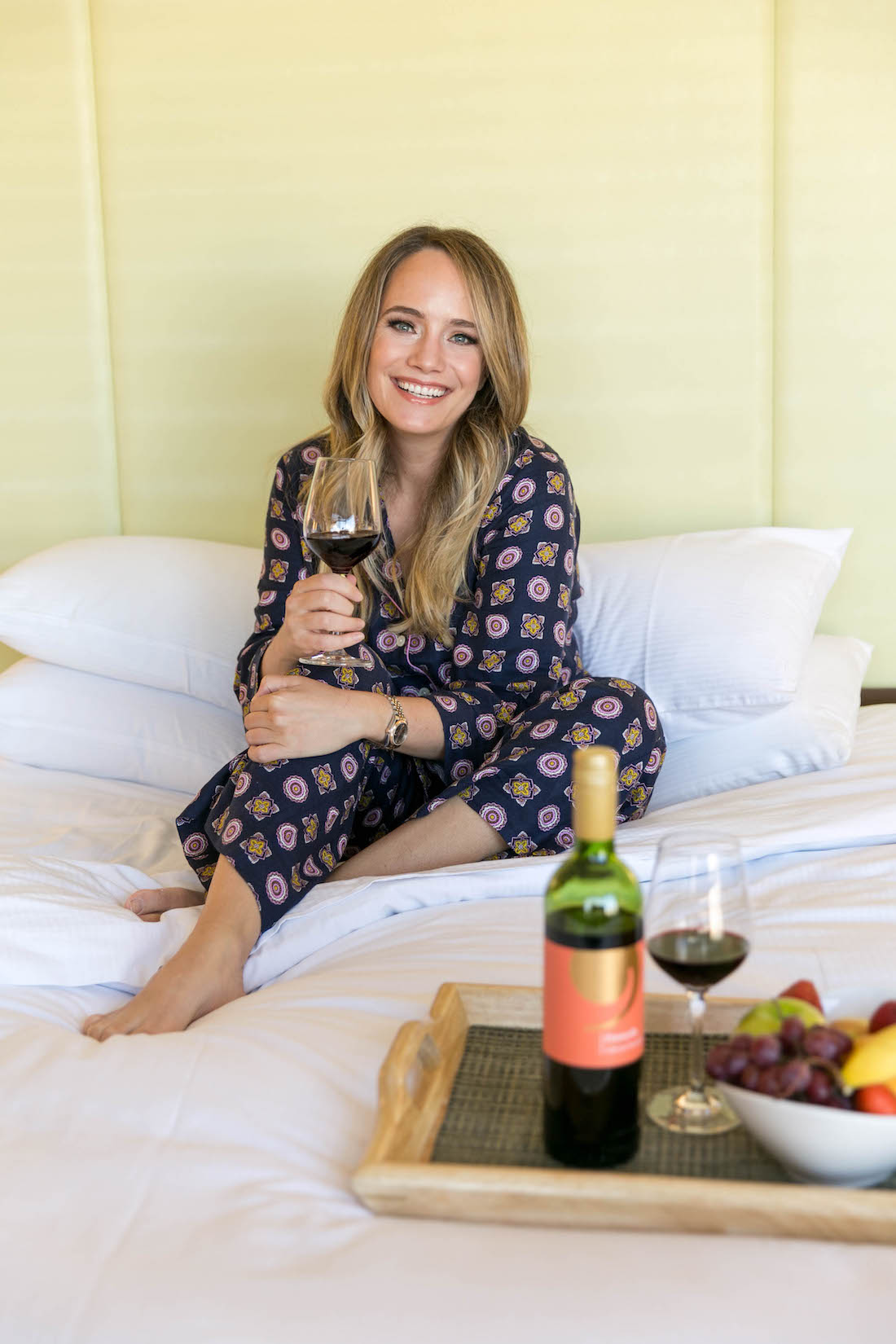 wine in bed