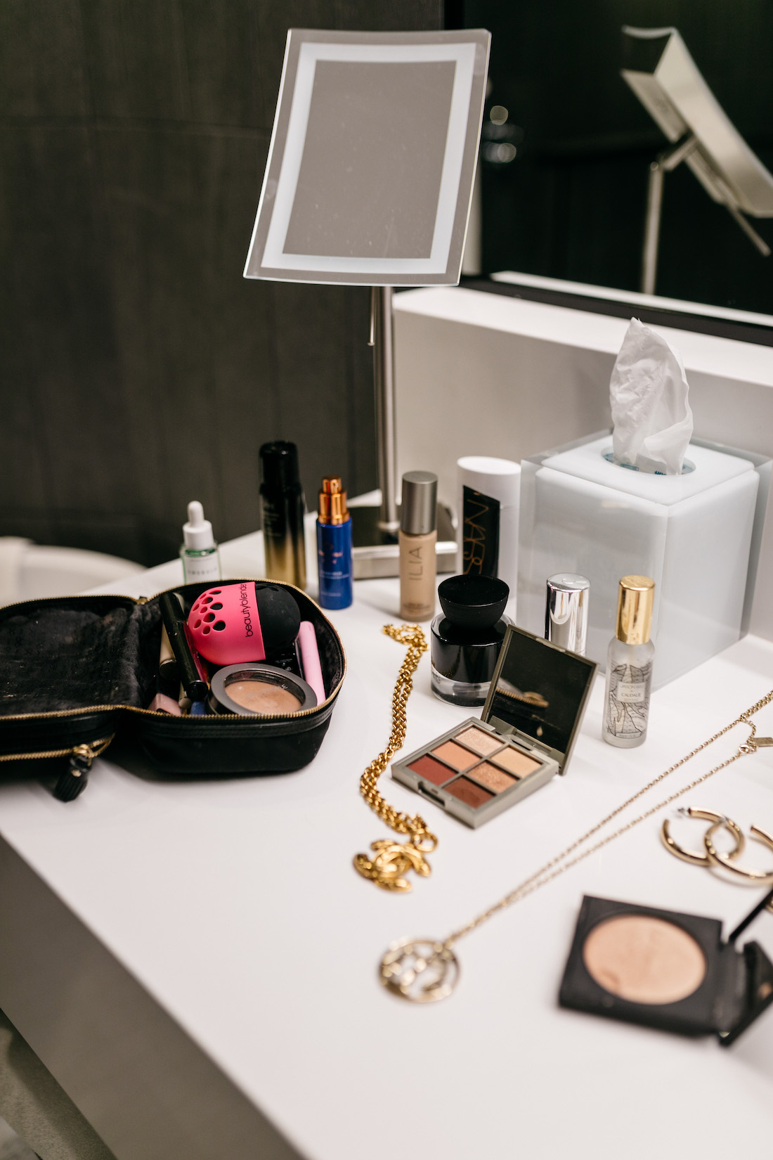 cosmetics and jewelry