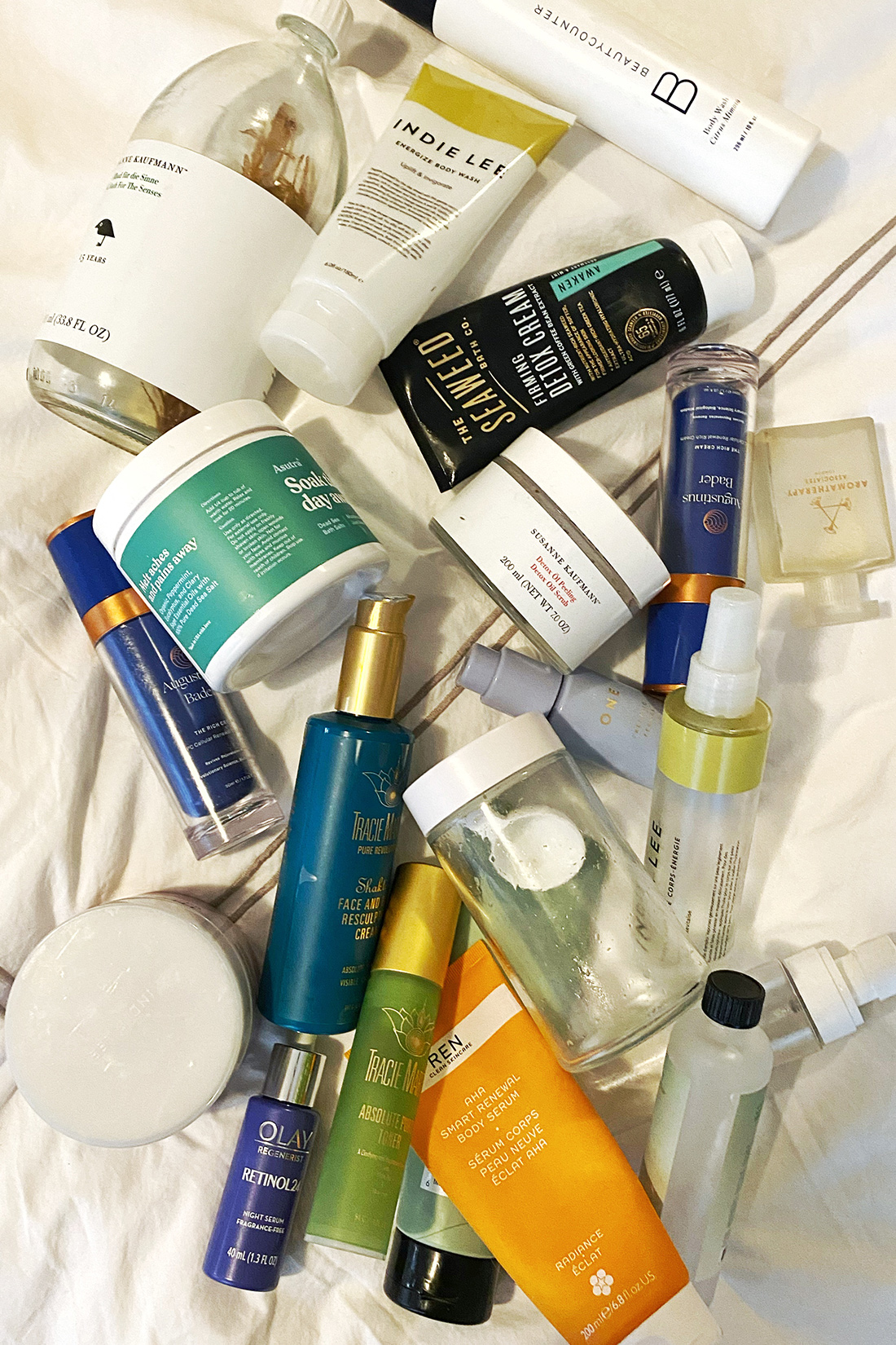 bath products + beauty empties