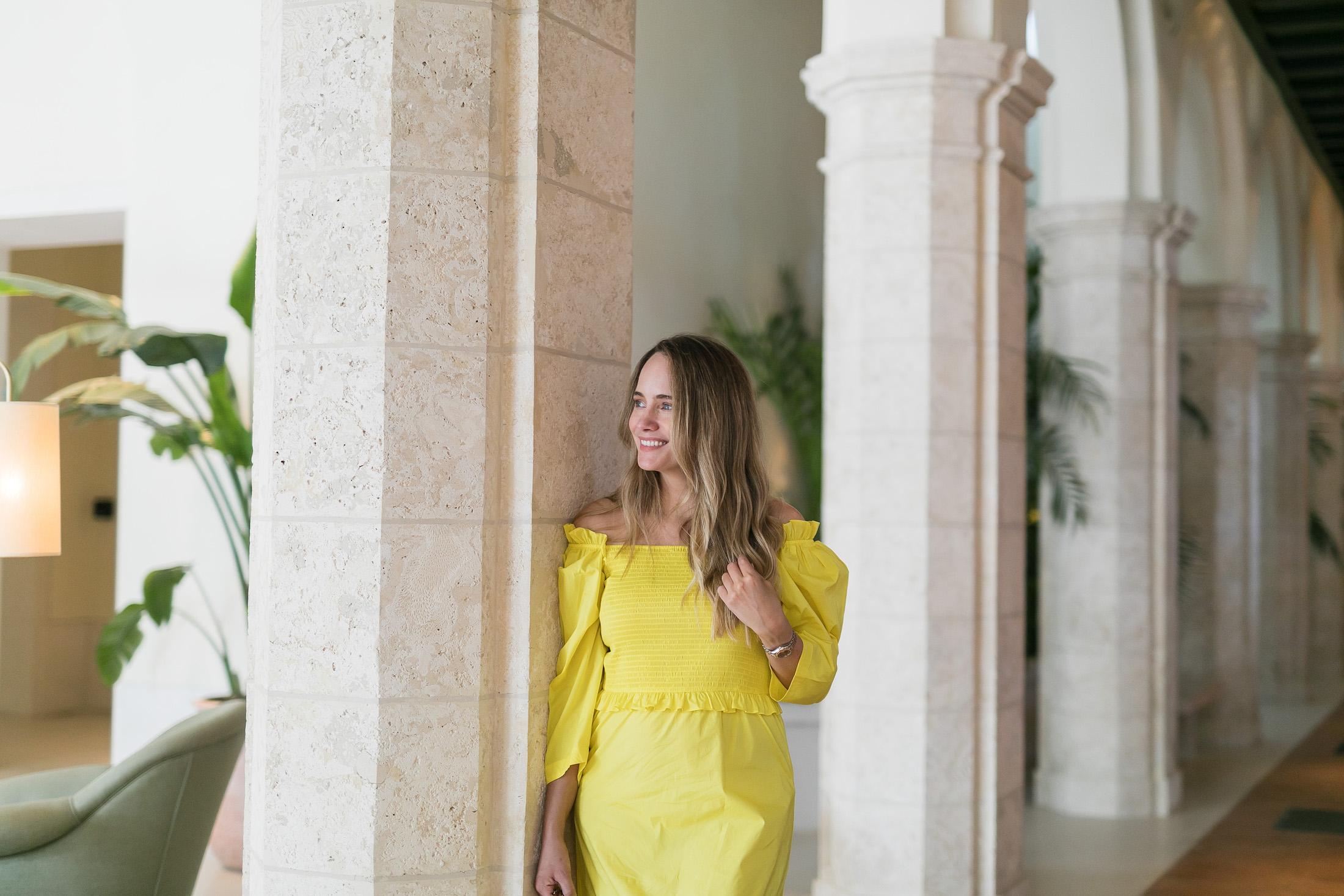 yellow vacation dress