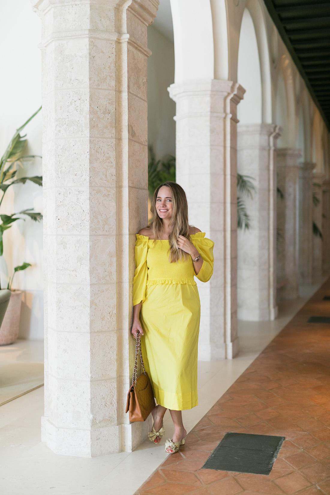 Sea dress yellow