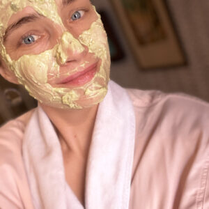 DIY Avocado Honey Yogurt Face Mask.