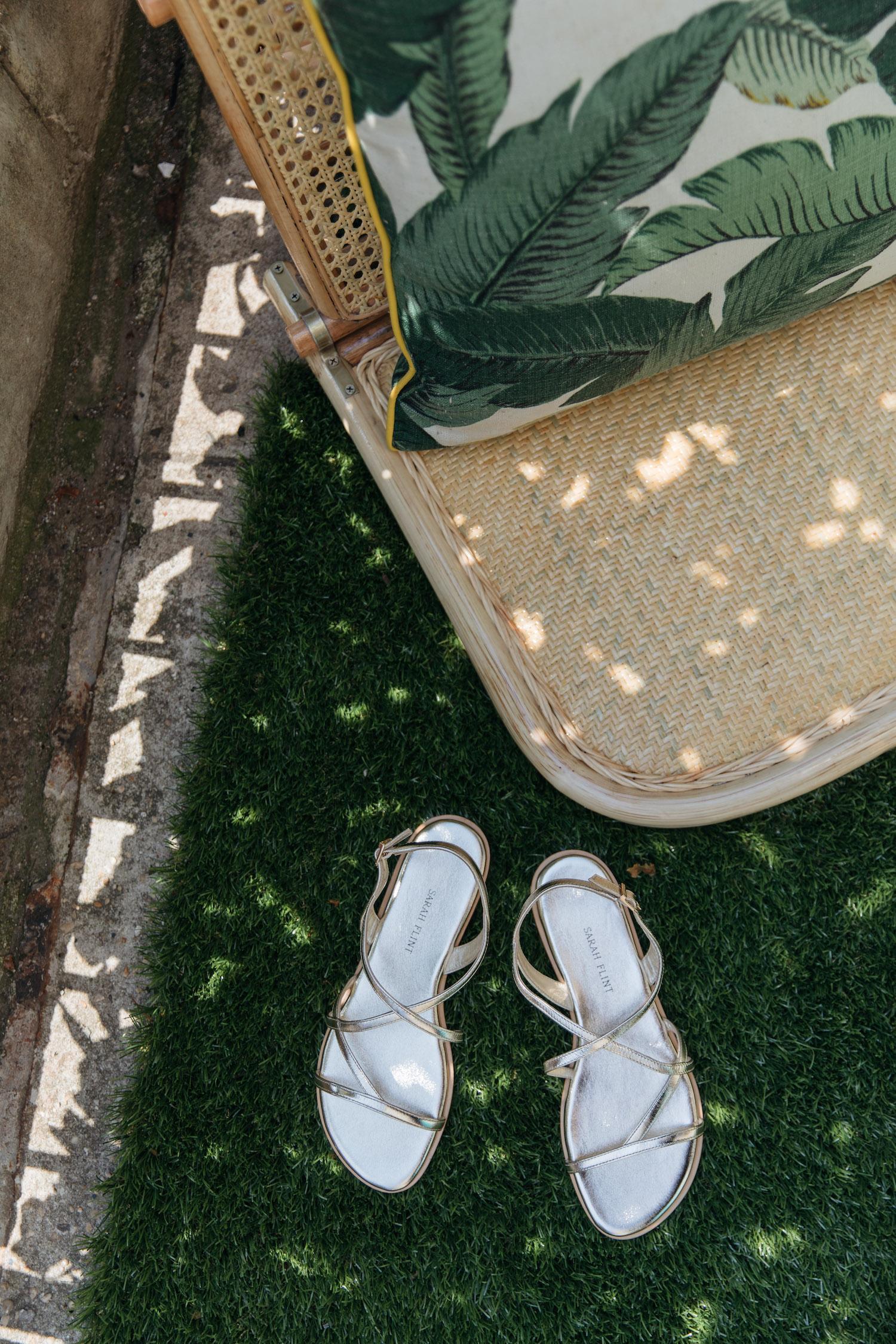 fancy gold sandals