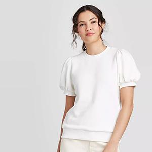 Target Puff Sleeve Sweatshirt