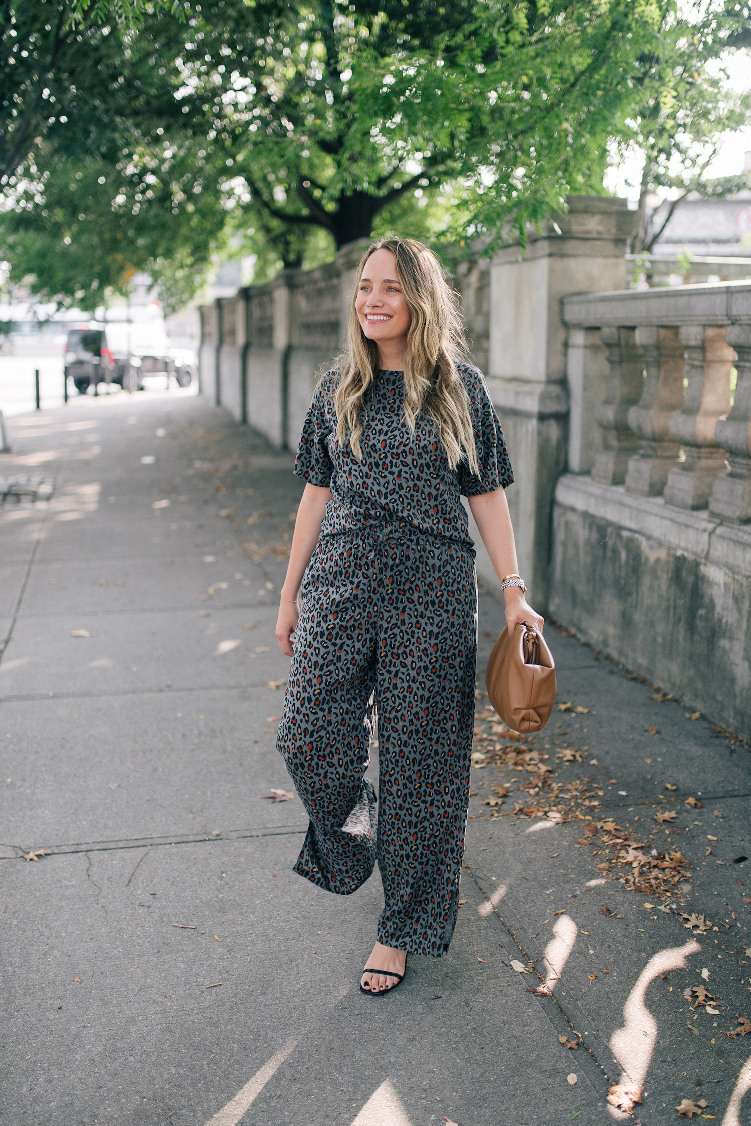 leopard matching top and pants