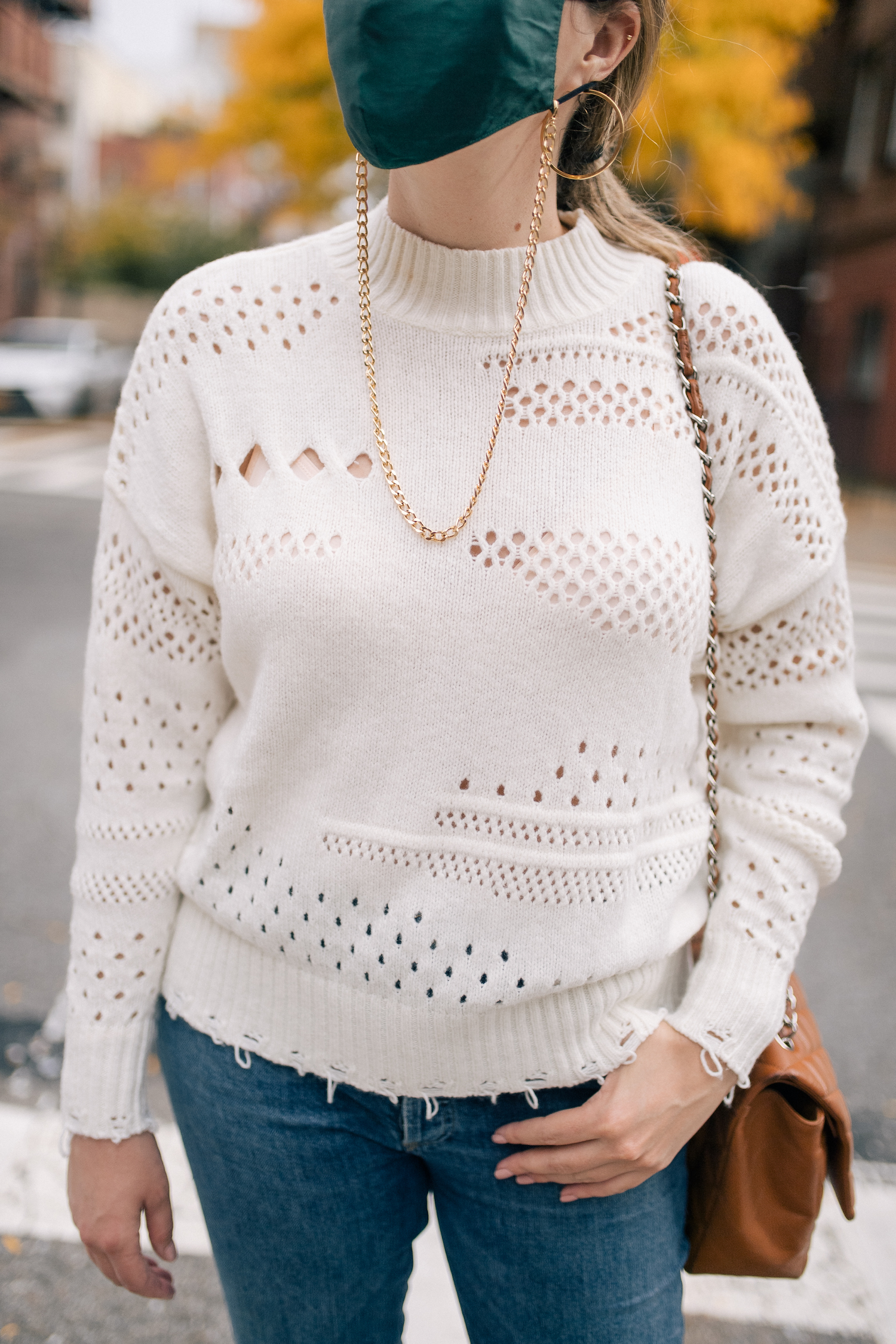 distressed sweaters