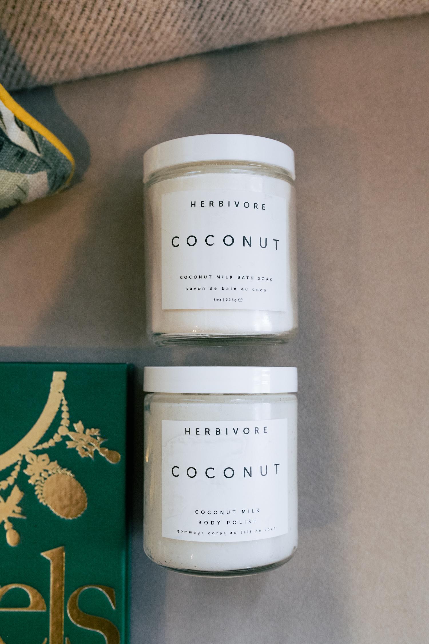 Herbivore Coconut Soak + Scrub.