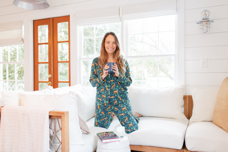jungle cat print pajamas