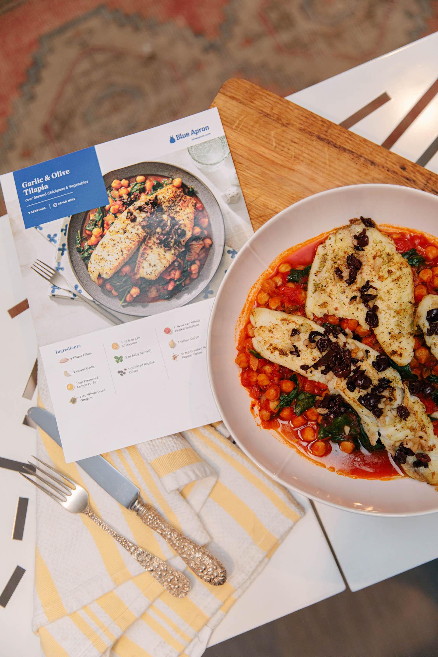 A Healthier Mindset | Garlic & Olive Tilapia