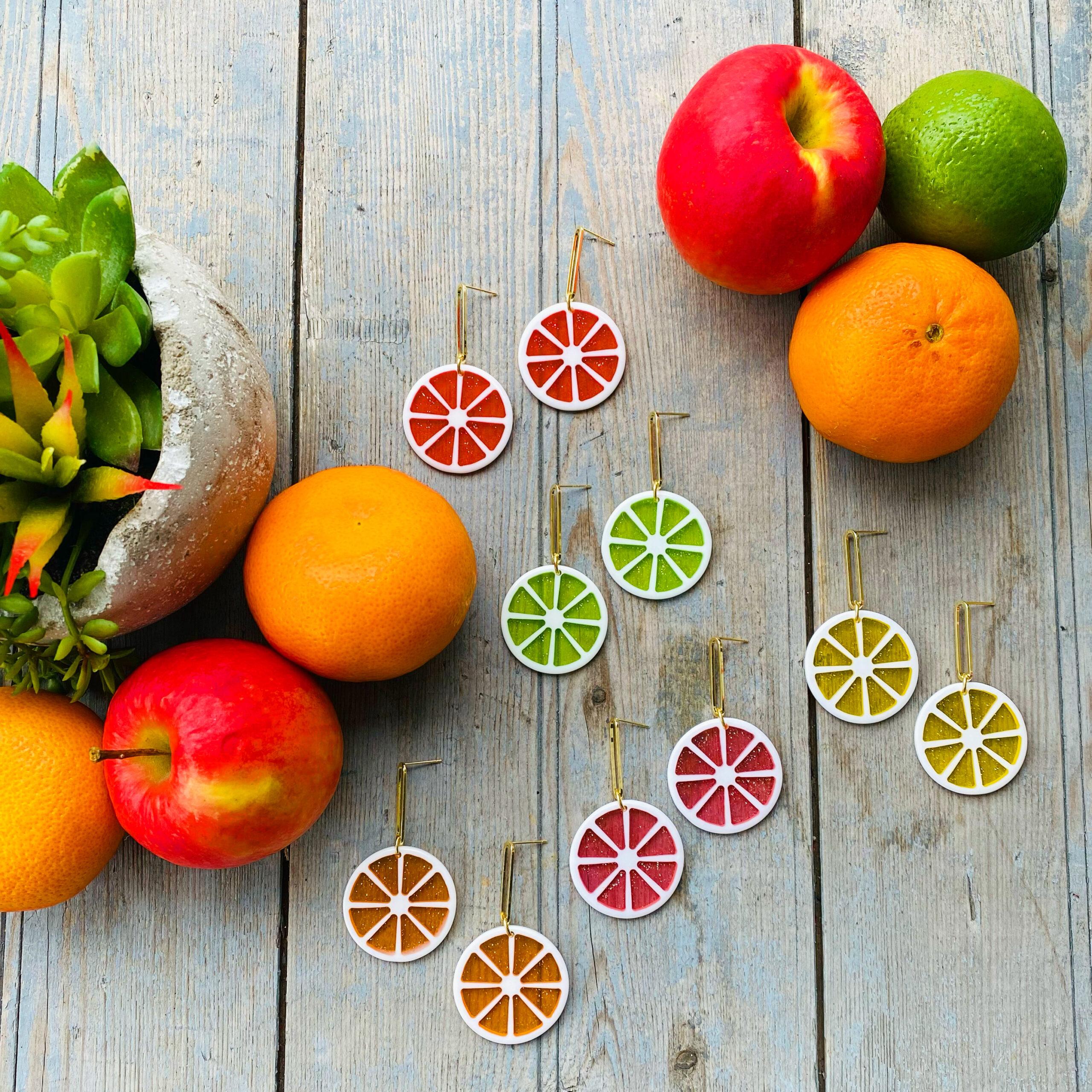 The best little citrusy-y earrings!