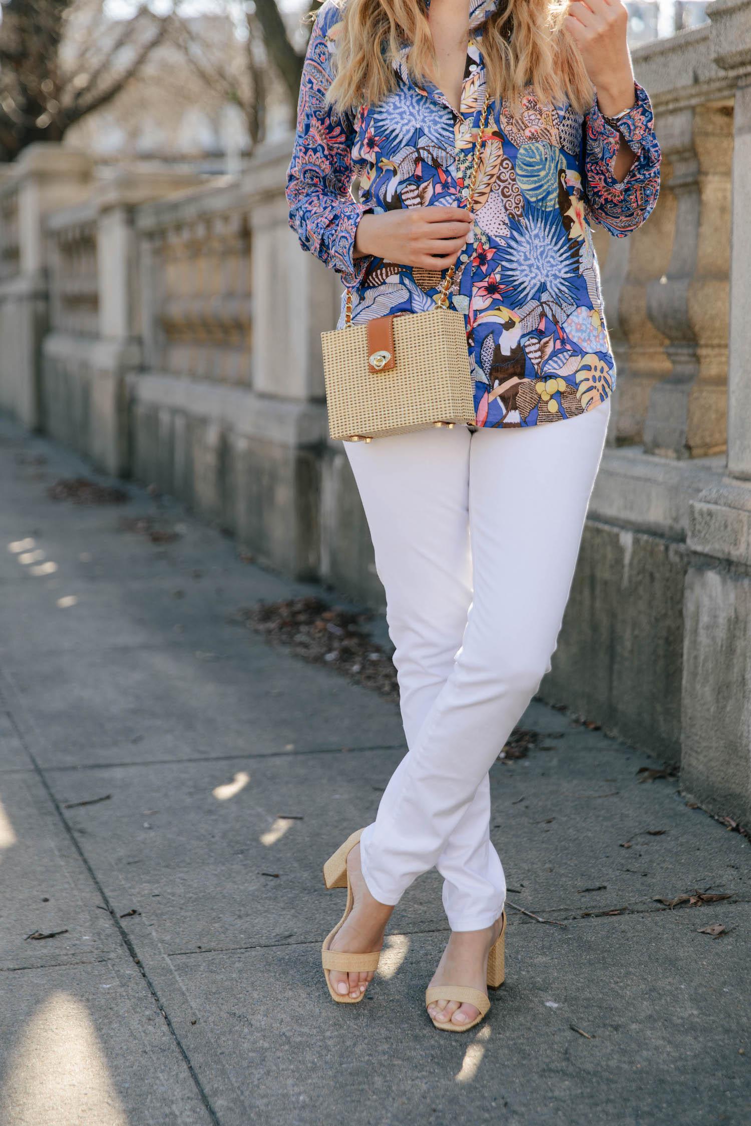J McLaughlin white jeans
