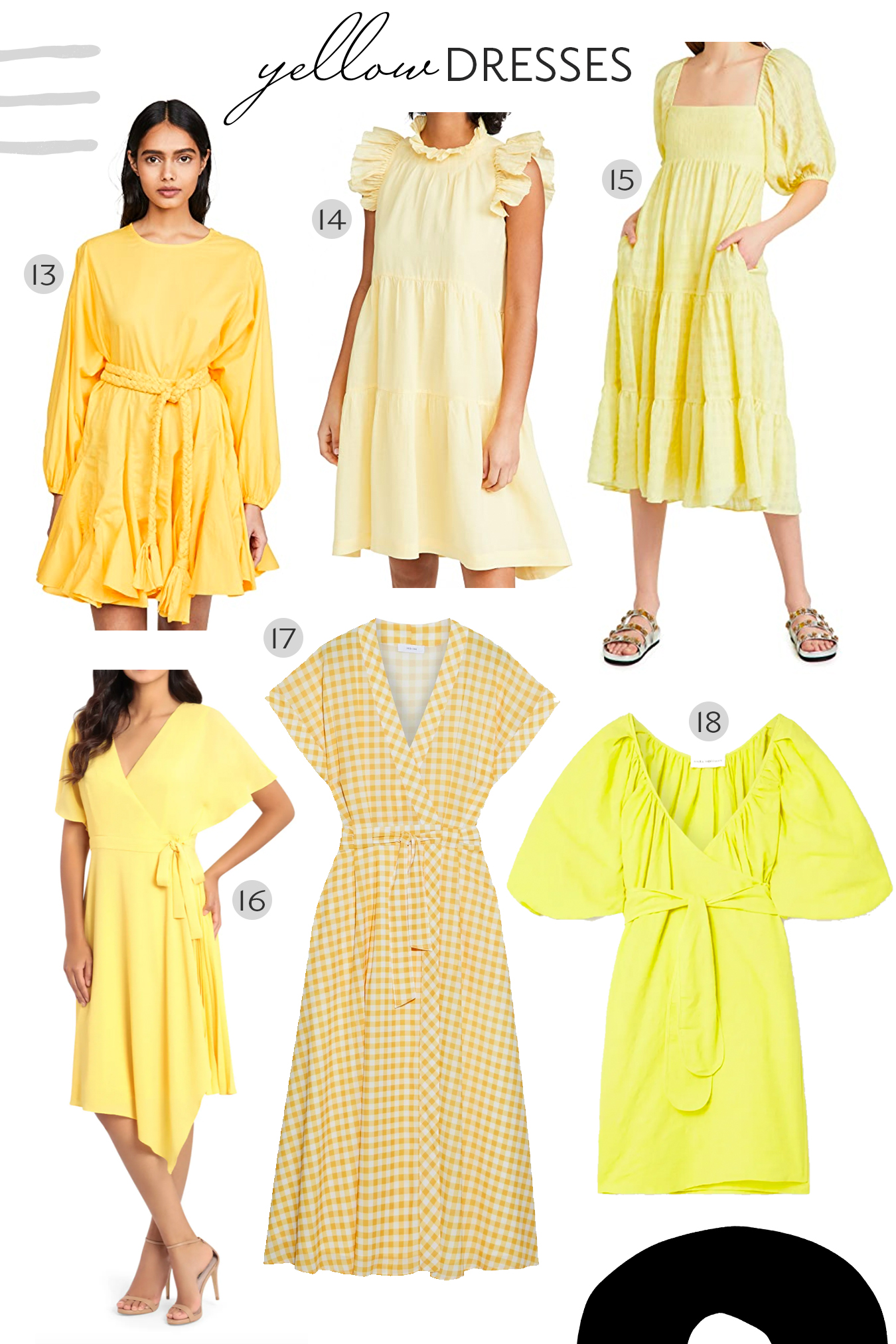 yellow dresses, gingham