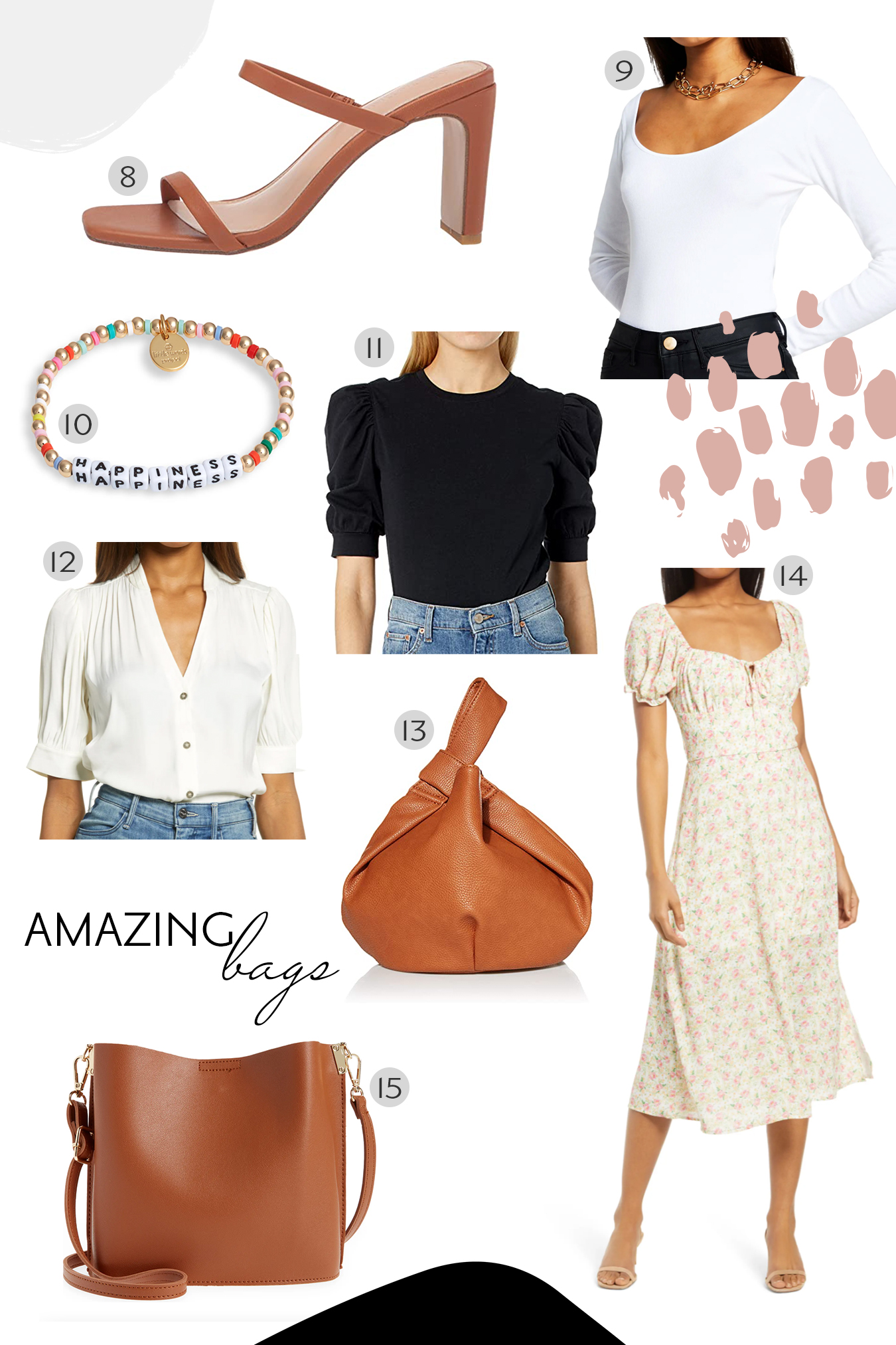 spring outfit and accessories