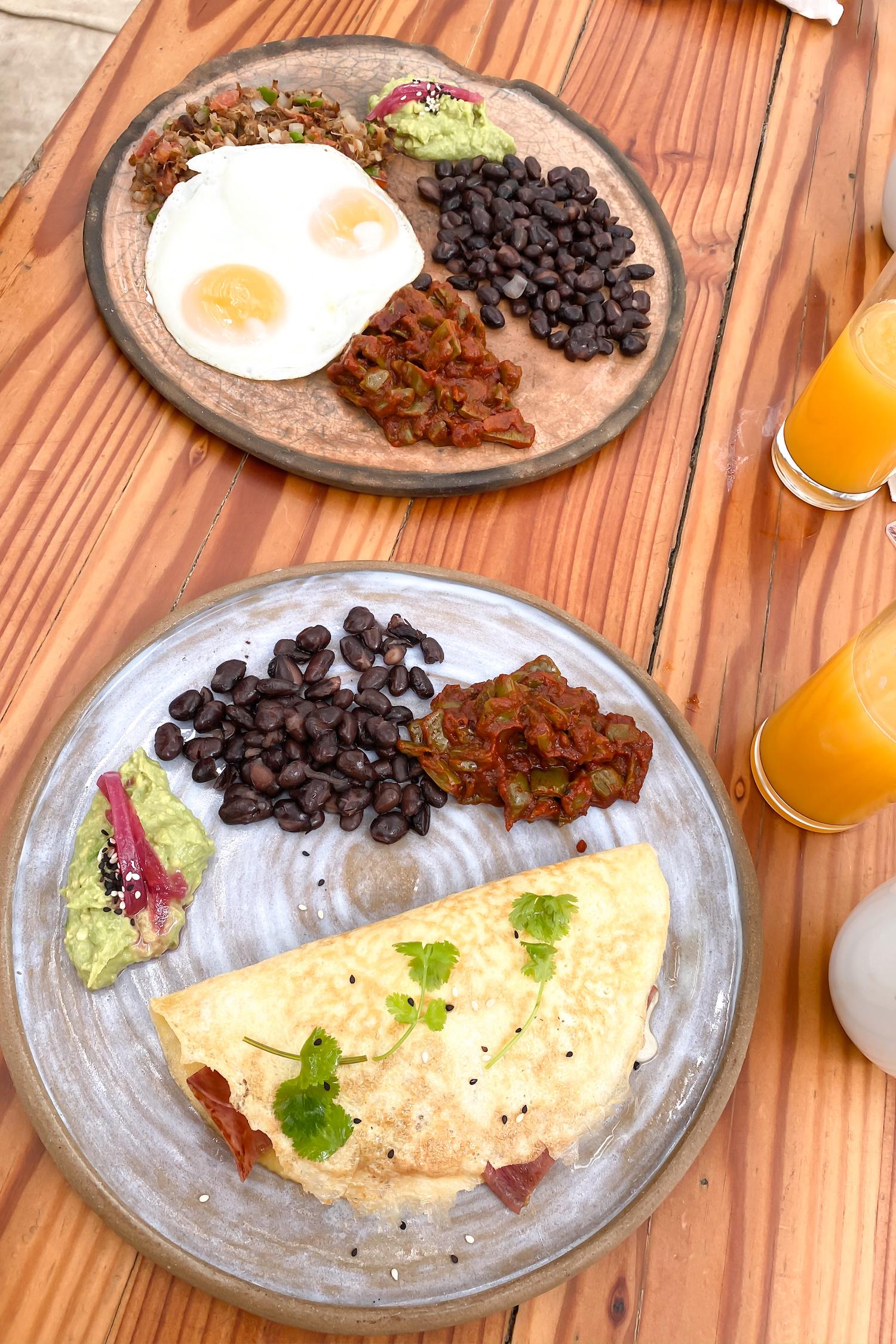 Breakfast at Cuatro Cuatros in Valle de Guadalupe
