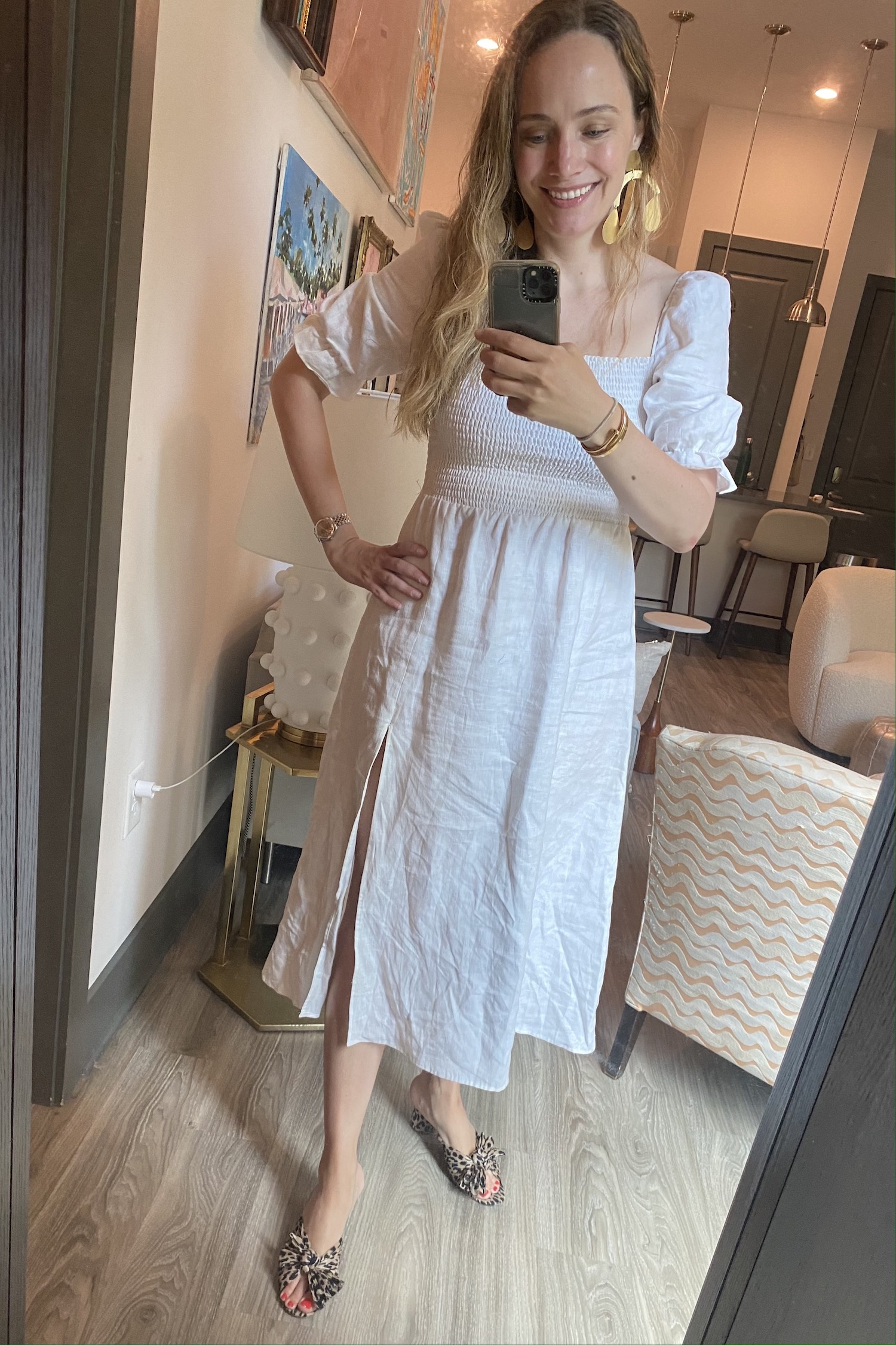 linen Reformation dress | What I Wore Last Week 5.28.21