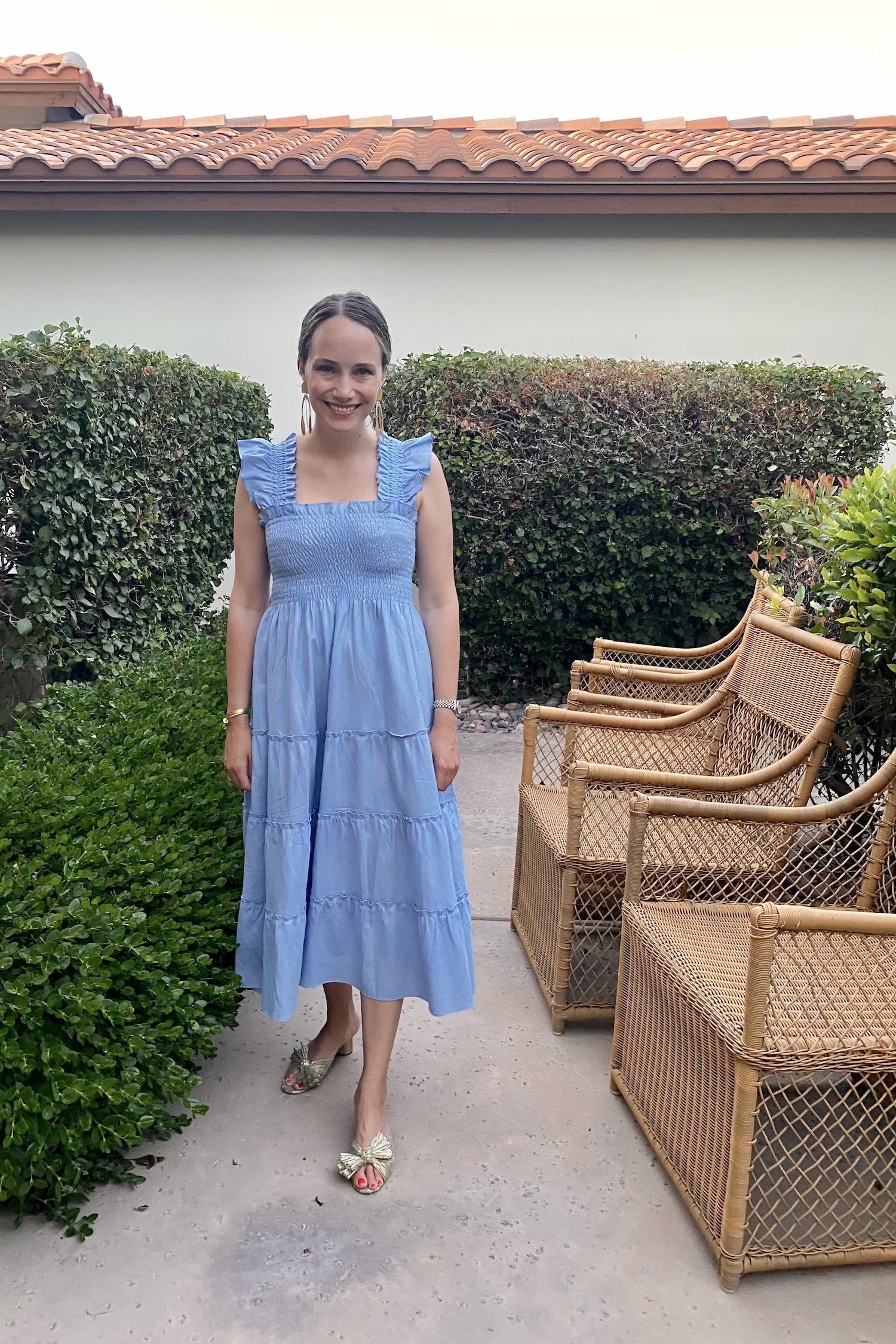 light blue nap dress