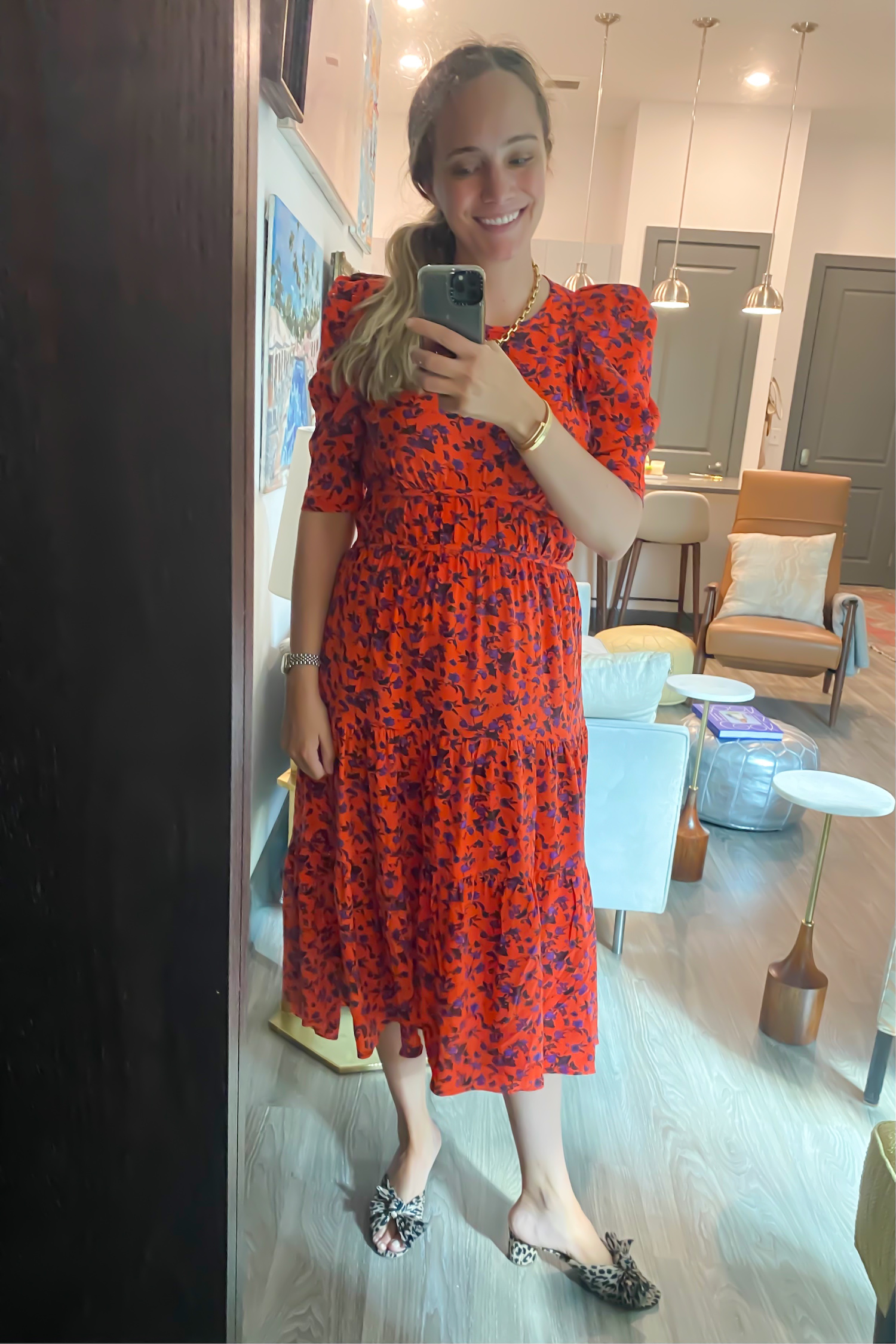 red Joie dress   Everything I Wore Last Week 5.12.21