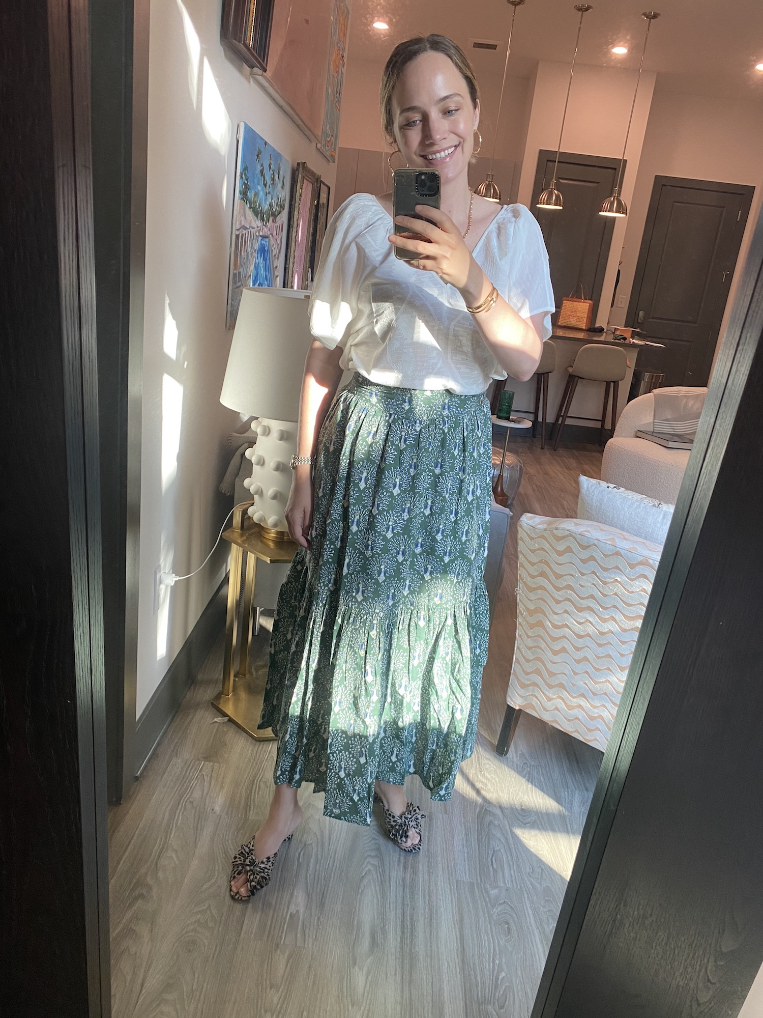 green maxi skirt from Mirth | A Week of Outfits 5.19.21