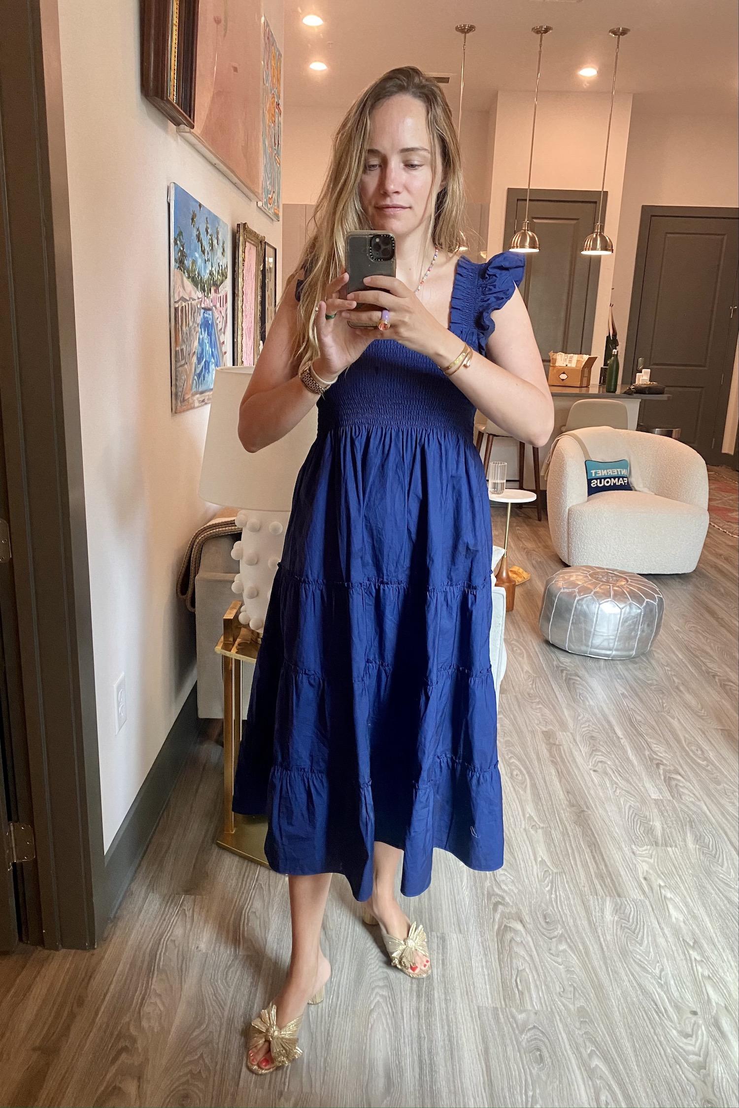 Reformation smocked dress