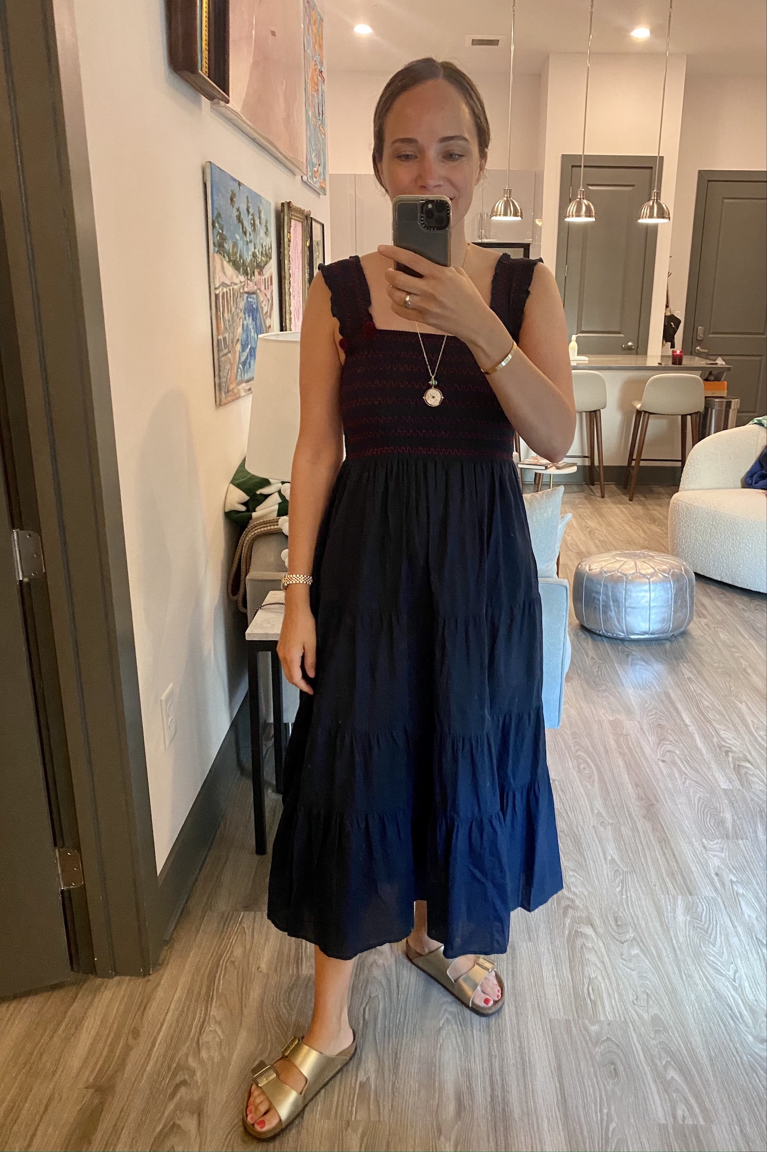Figue dress and gold birks