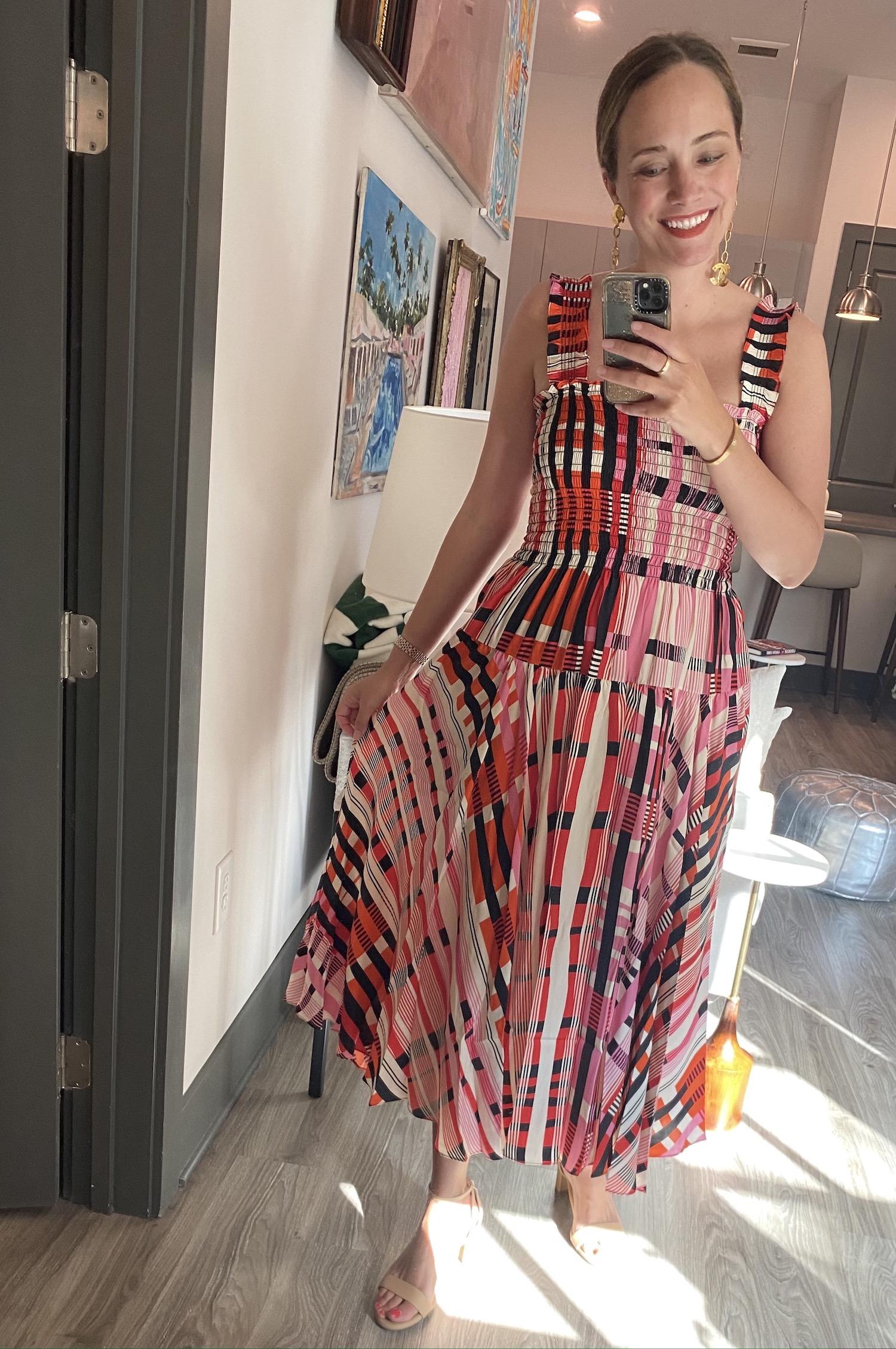 La Ligne smocked dress