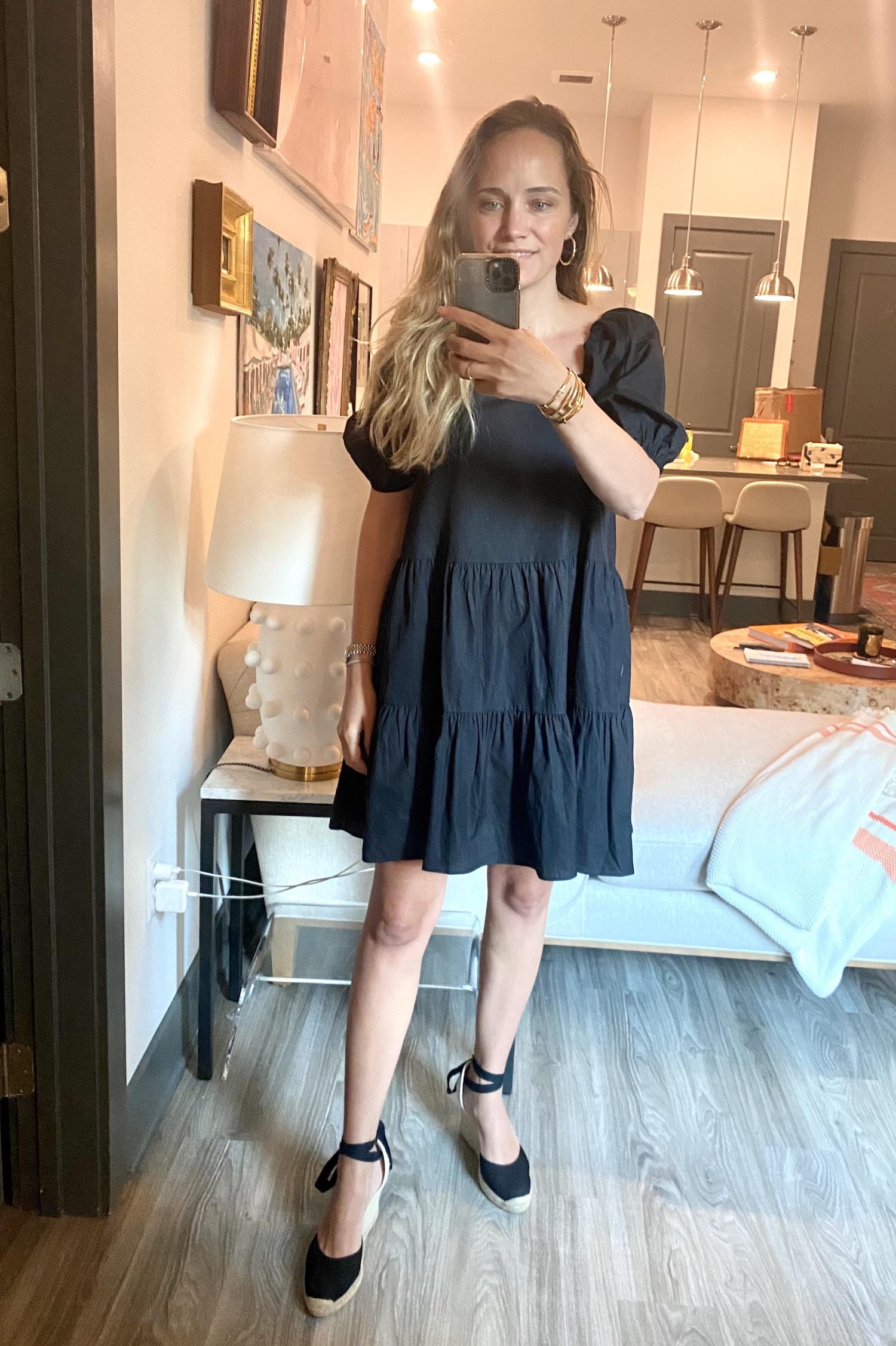 H&M puff sleeve dress