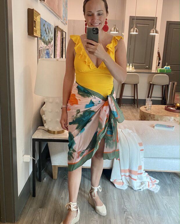 yelllow Amazon swimsuit | Everything I Wore Last Week 6.23.21