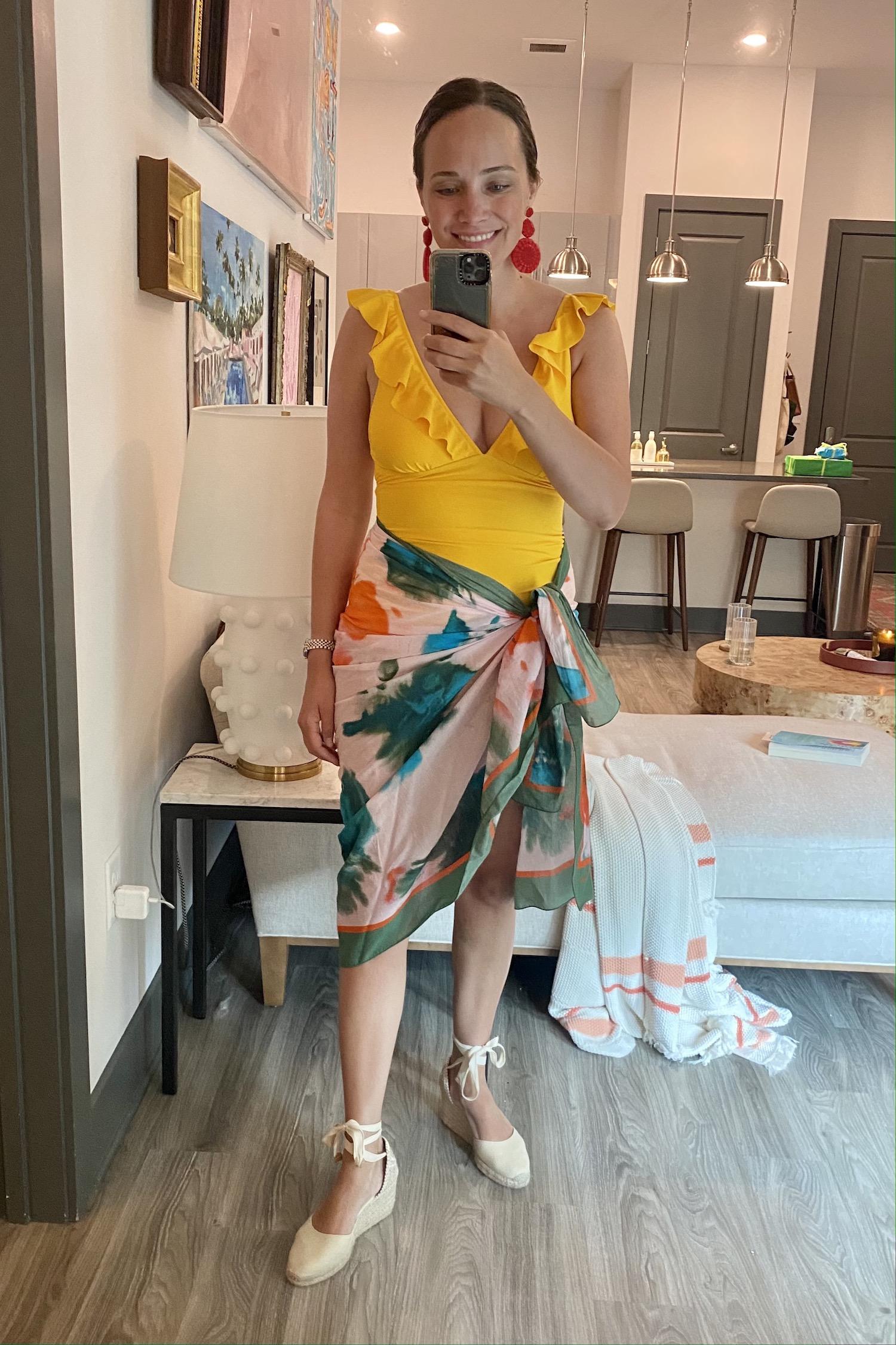 yelllow Amazon swimsuit   Everything I Wore Last Week 6.23.21