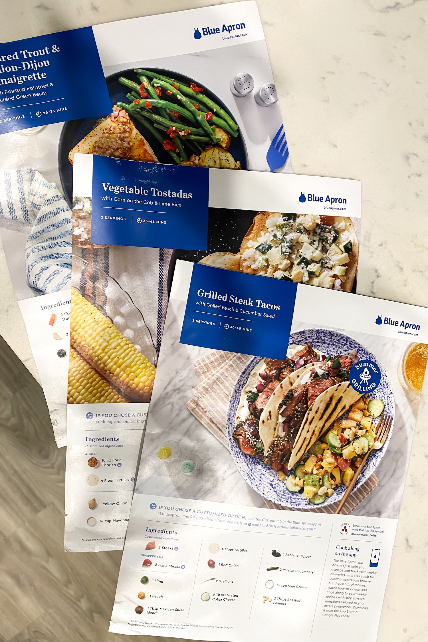 Getting Back into a Routine with Blue Apron