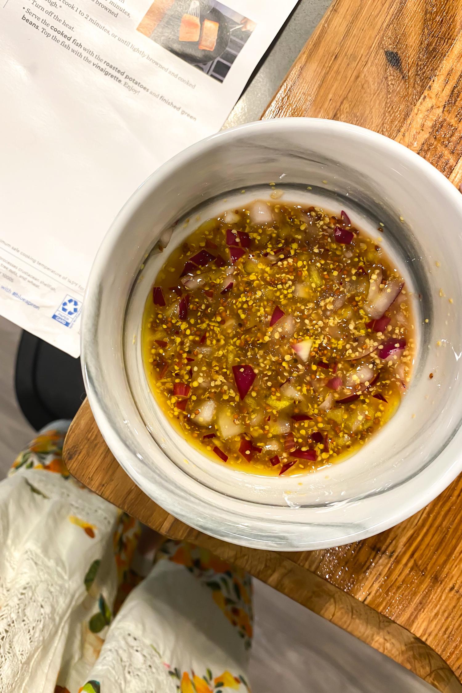 How to make Seared Trout & Onion Dijon Vinaigrette