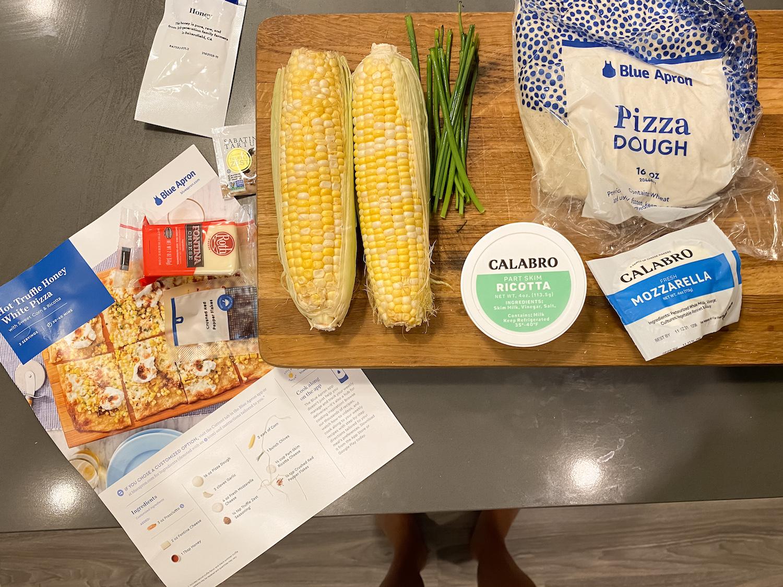 Blue Apron pizza ingredients